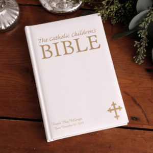 Personalized Laser Engraved Catholic Children's Bible